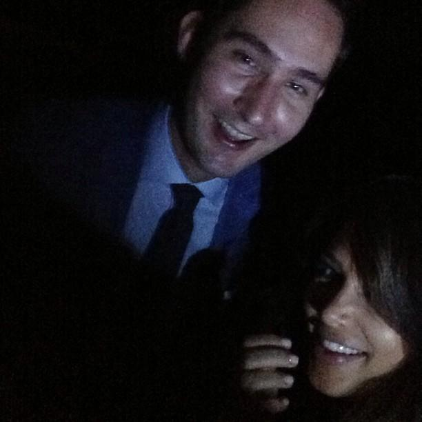 """Kim Kardashian, who was rumored to have snuck into the bash, posted a selfie of herself and Instagram CEO Kevin Systrom with the caption, """"Chilling with the creator of Instagram @kevin. The question is? Did she or didn't she attend her little sis's big party!?"""
