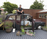 <p>UNEXPECTED:<br>The Taxi – owned by Lee Connelly in Colchester, Essex (Picture: Shed of the Year) </p>