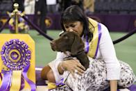 <p>We'd want to plant a kiss on the head of CJ, a German shorthaired pointer, too!</p>