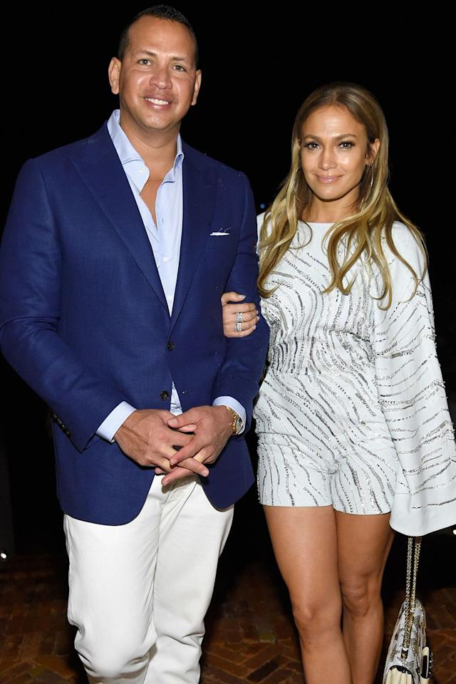 """<p>They have matching nicknames and occasionally coordinate outfits. You may not think they look exactly alike, but we can all agree that they're a <a rel=""""nofollow"""" href=""""https://www.redbookmag.com/love-sex/relationships/news/a49834/jennifer-lopez-alex-rodriguez-relationship-timeline/"""">gorgeous couple</a>. </p>"""