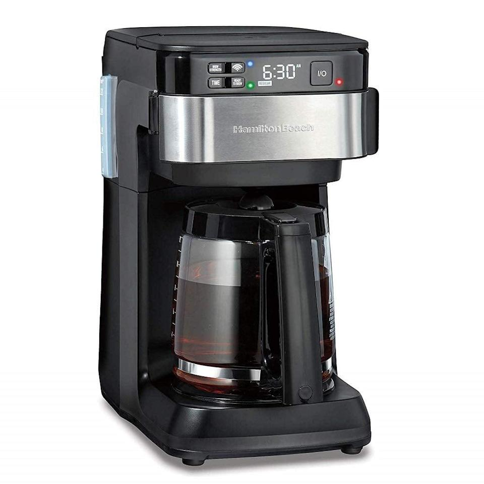 <p>This is the innovation we're looking for in 2021. You can simply tell this <span>Hamilton Beach Works With Alexa Smart Coffee Maker</span> ($71, originally $90) to make your coffee, and it's done.</p>