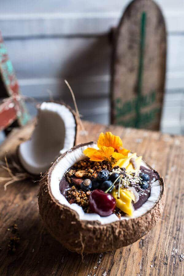 "<p>Is there a more tropical way to eat an acai bowl?</p><p>Get the recipe from <a href=""https://www.halfbakedharvest.com/summer-acai-bowl-with-big-cluster-toasted-buckwheat-granola/"" rel=""nofollow noopener"" target=""_blank"" data-ylk=""slk:Half Baked Harvest"" class=""link rapid-noclick-resp"">Half Baked Harvest</a>.</p>"