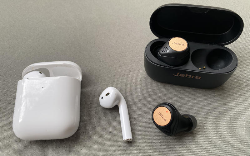 The Jabra buds are compact but can be prone to falling out of the ear. Source: Nick Whigham