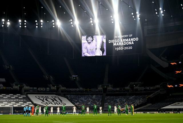 A minute's silence was held before kick-off