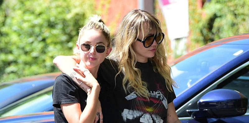 Miley Cyrus and Kaitlynn Carter dated briefly over the summer (Credit: AP)