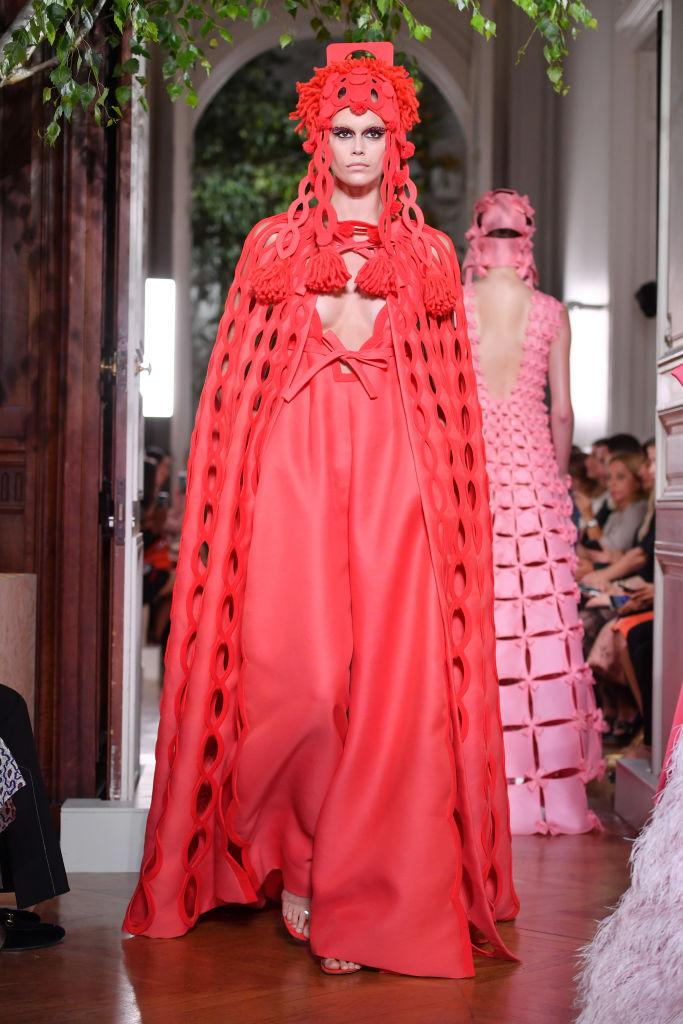 Kaia Gerber walks the runway during the Valentino Fall/Winter 2019 2020 show as part of Paris Fashion Week on July 03, 2019 in Paris, France. [Photo: Getty]