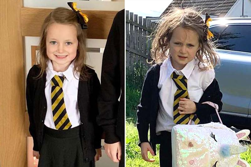 'Great' Return to School Proves Exhausting for Girl, 5: See Her Adorable Before and After Photos!