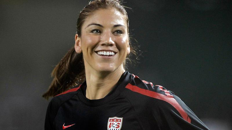 Hope Solo, pictured here in action for the United States in 2011.