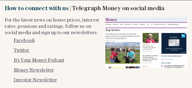 How to connect with us | Telegraph Money on social media