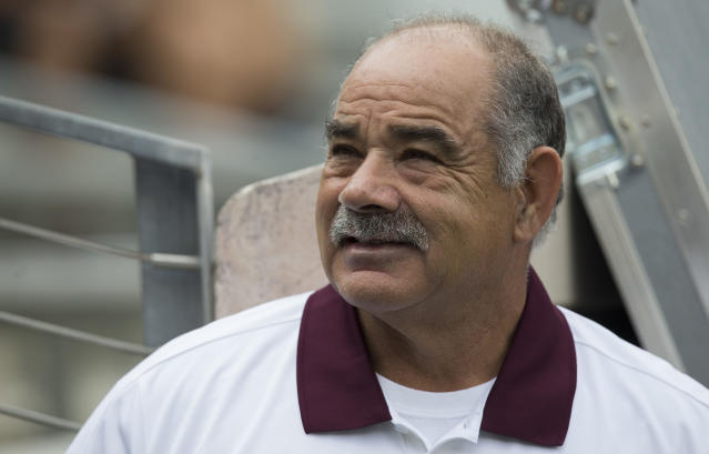 Texas A&M defensive coordinator John Chavis spent six seasons at LSU under Les Miles. (AP Photo/Sam Craft)