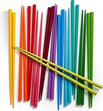 <p>Sushi nights in just got a lot more stylish thanks to this <span>Set of 12 Rainbow Chopsticks</span> ($39). Sold as a set of 12 - and in a handful of smile-inducing shades, no less - this pick is a no-brainer for avid hosts. </p>