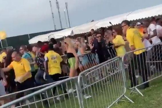We Are FSTVL: Horrifying footage shows revellers scream as they rush into crowded London event after queuing for three hours to get in