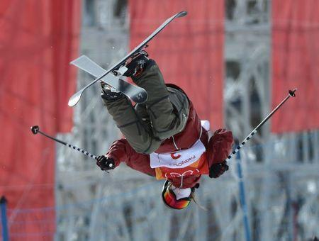 Freestyle Skiing - Pyeongchang 2018 Winter Olympics - Women's Ski Halfpipe Qualifications - Phoenix Snow Park - Pyeongchang, South Korea - February 19, 2018 - Cassie Sharpe of Canada competes. REUTERS/Mike Blake