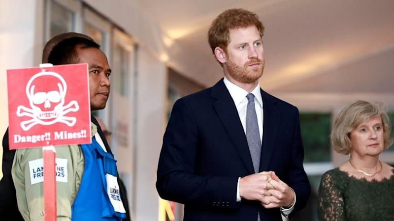Prince Harry honors Princess Diana's legacy in emotional speech about land mines