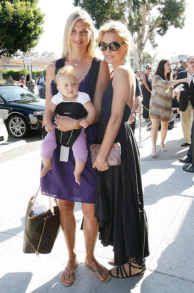 """Professional volleyball player/model Gabrielle Reece and her 6-month-old daughter Brody Jo pose with Charlize. Donato Sardella/<a href=""""http://www.wireimage.com"""" target=""""new"""">WireImage.com</a> - June 29, 2008"""