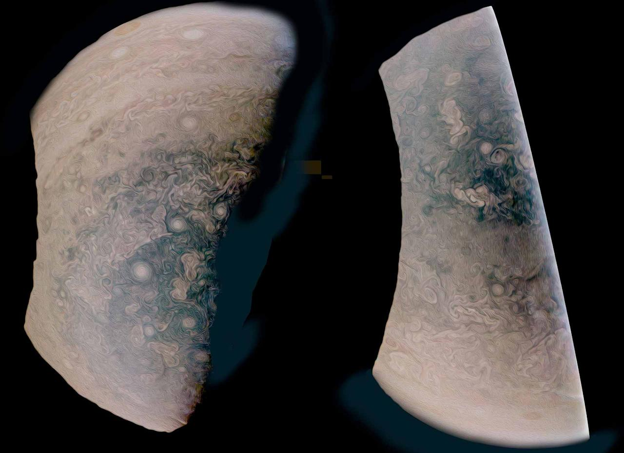 <p>A composite shot of Jupiter from NASA probe Juno. Photo from NASA </p>