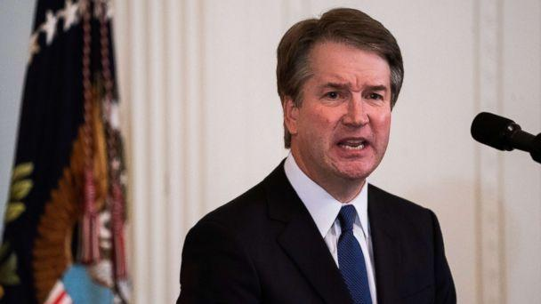 PHOTO: Judge Brett Kavanaugh speaks after President Donald J. Trump announced him his nominee to replace retiring Supreme Court Justice Anthony Kennedy, in Washington, July 9, 2018. (Jim Lo Scalzo/EPA/REX via Shutterstock)