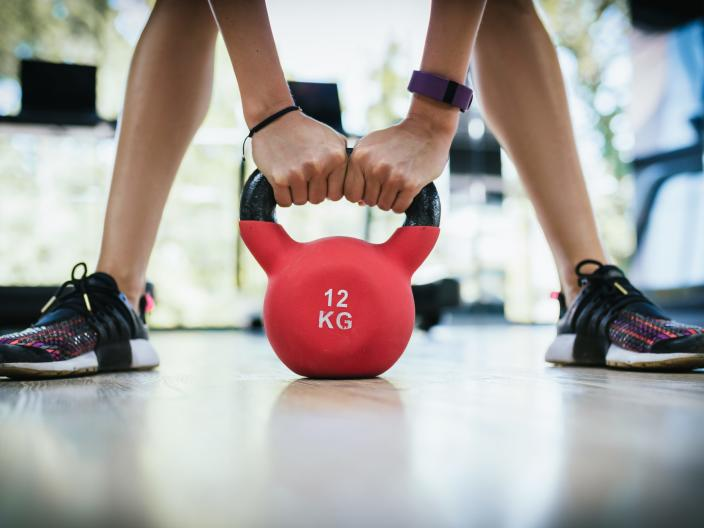 A kettlebell is one of the best items to opt for while working out at home.