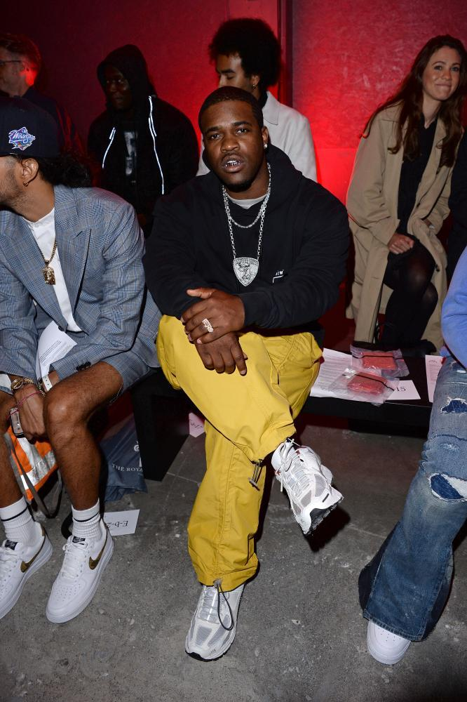 A$AP Ferg at the A-Cold-Wall show at London Fashion Week Mens.