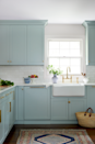 "<p><em>Today</em> cohost Jenna Bush Hager overhauled the entire midcentury kitchen in her <a href=""https://www.veranda.com/home-decorators/a29416525/jenna-bush-hager-home-tour/"" rel=""nofollow noopener"" target=""_blank"" data-ylk=""slk:spirited Long Island cottage"" class=""link rapid-noclick-resp"">spirited Long Island cottage</a> to give a sense of openness and ease. The pastel blue cabinetry pops against a fireclay apron-front sink (<a href=""https://www.rohlhome.com/"" rel=""nofollow noopener"" target=""_blank"" data-ylk=""slk:Rohl"" class=""link rapid-noclick-resp"">Rohl</a>) and glazed wall tiles (<a href=""https://www.waterworks.com/us_en/"" rel=""nofollow noopener"" target=""_blank"" data-ylk=""slk:Waterworks"" class=""link rapid-noclick-resp"">Waterworks</a>). The cabinetry paint color is Wedgewood Gray by Benjamin Moore.<br><br><a class=""link rapid-noclick-resp"" href=""https://www.benjaminmoore.com/en-us/color-overview/find-your-color/color/hc-146/wedgewood-gray?color=HC-146"" rel=""nofollow noopener"" target=""_blank"" data-ylk=""slk:Get the Look"">Get the Look</a></p>"