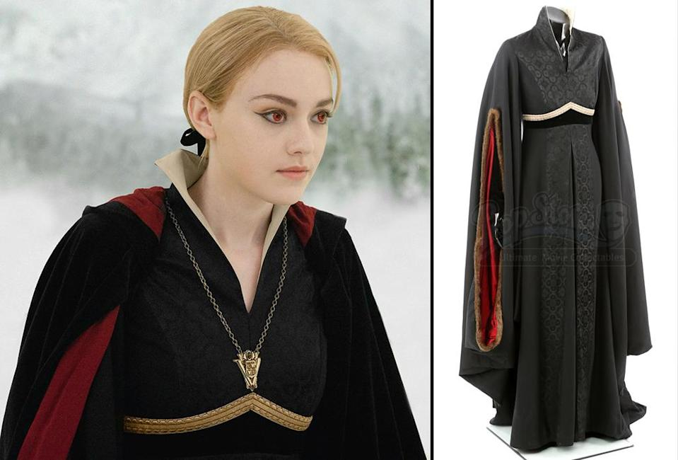 <p>Dakota Fanning looked wild and wicked in this dress from 'Breaking Dawn – Part 2.' (Photo: Prop Store/Summit) </p>
