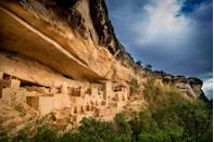 """<p>Not only is Colorado's <a href=""""https://www.nps.gov/meve/index.htm"""" rel=""""nofollow noopener"""" target=""""_blank"""" data-ylk=""""slk:Mesa Verde National Park"""" class=""""link rapid-noclick-resp"""">Mesa Verde National Park</a> beautiful, but it also gives us a chance to travel back in time. The 5,000 archaeological sites and 600 cliff dwellings that make up Mesa Verde give us a closer look at the Ancestral Pueblo community that made the land their home for 700 years, and the park staff continues to preserve them today.</p>"""