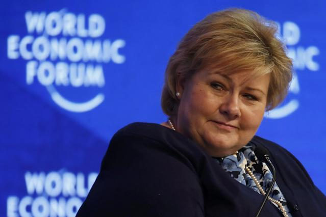 <p>No. 17: Erna Solberg, Prime Minister of Norway<br>Salary: $187,000 (1.6 million kroner)<br>(Reuters) </p>