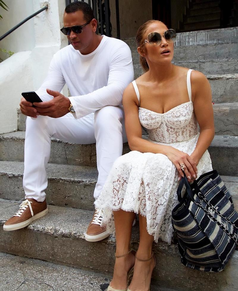 Jennifer Lopez and A-Rod have been trying their own hand at being a casual, color-coordinated couple while closing out the summer in Capri.