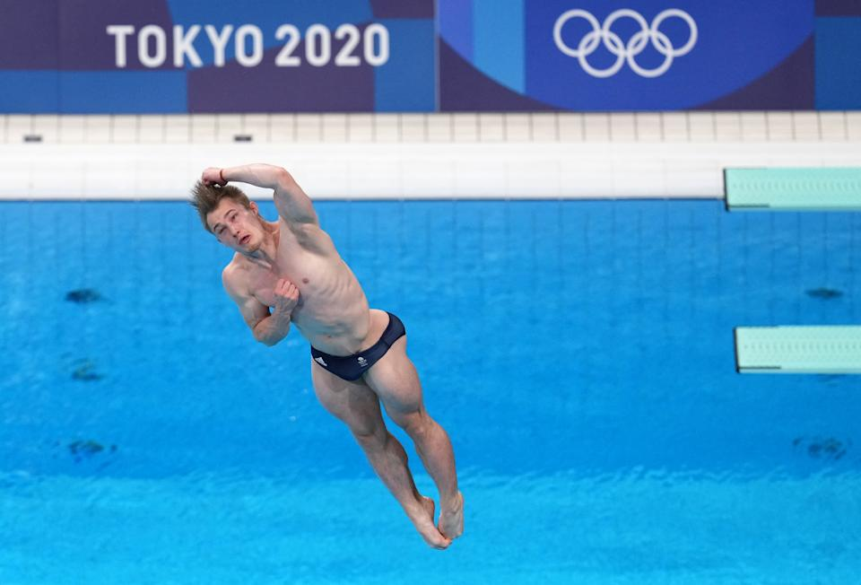 Great Britain's Jack Laugher during the Men's 3m Springboard Final at Tokyo Aquatics Centre on the eleventh day of the Tokyo 2020 Olympic Games in Japan. Picture date: Tuesday August 3, 2021. (Photo by Martin Rickett/PA Images via Getty Images)