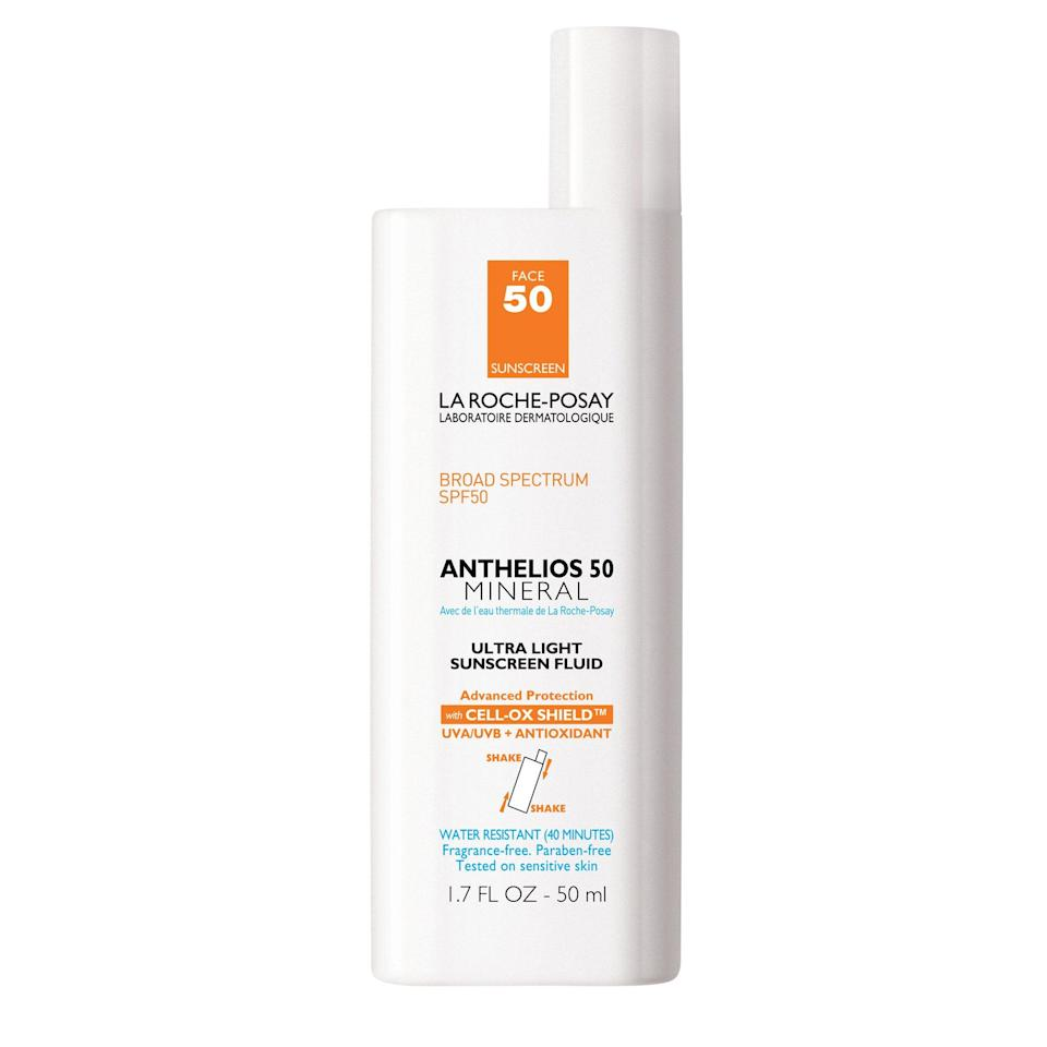 When multiple editors — of different ages and skin tones — all love the same sunscreen, you know it's good. La Roche-Posay's Anthelios 50 Mineral Ultra Light Sunscreen Fluid SPF 50 Face has a milky formula that dries to an almost powdery finish, perfect for when you want serious sun protection without looking (or feeling) like a greasy mess.
