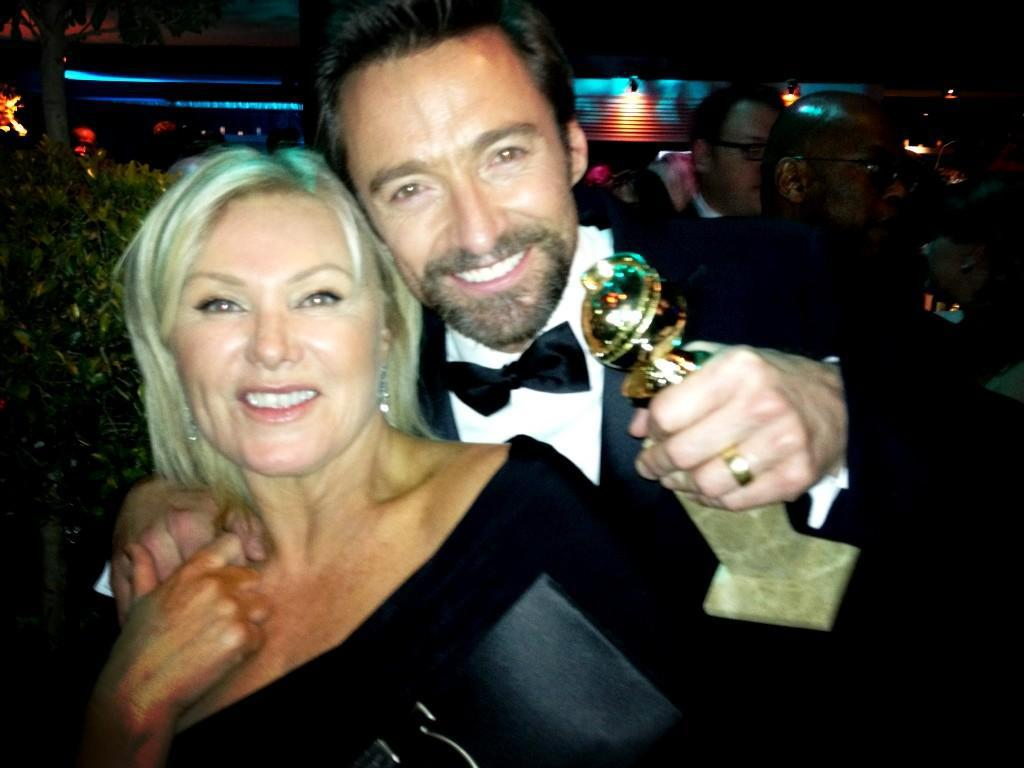 My beautiful wife at the golden globes. A night to remember!  - @RealHughJackman