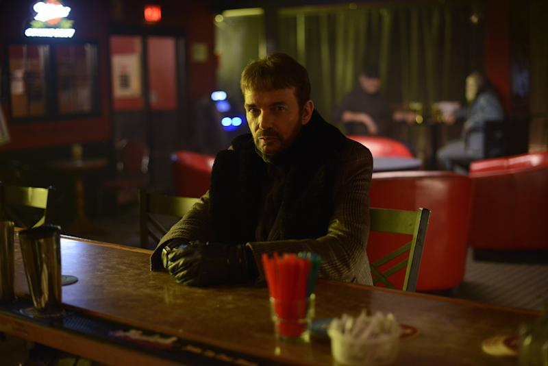 """This image released by FX shows Billy Bob Thornton as Lorne Malvo in a scene from """"Fargo."""" The 10-episode season premieres Tuesday at 10 p.m. EDT on FX. (AP Photo/FX, Chris Large)"""