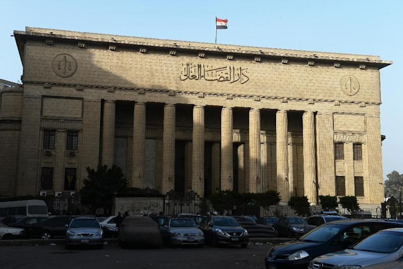 Egypt's High Court in downtown Cairo on January 1, 2015, where the trial of three Al-Jazeera reporters on charges of aiding the Muslim Brotherhood took place (AFP Photo/Khaled Desouki)