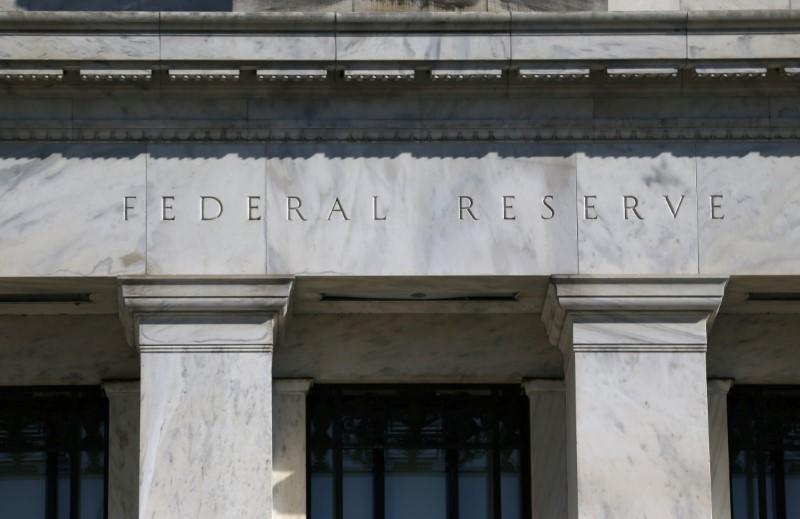 Federal Reserve Board building on Constitution Avenue is pictured in Washington