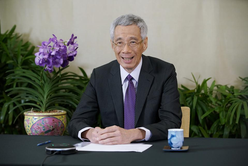 Prime Minister Lee Hsien Loong speaking at the World Economic Forum Davos Agenda Week on 29 January 2021. (PHOTO: Ministry of Communications and Information/Prime Minister's Office)