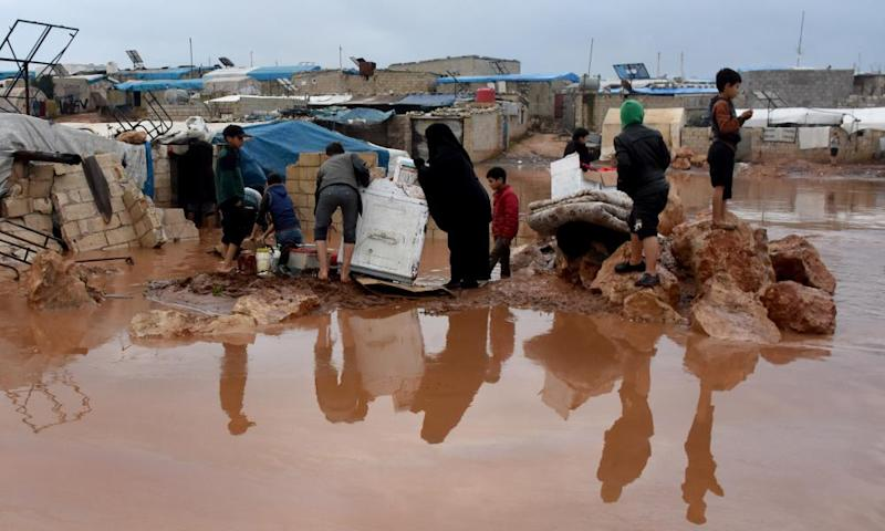 Flood at Atma refugee camp in Idlib