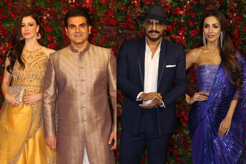 Malaika-Arjun and Giorgia-Arbaaz Came Face to Face at Deepika-Ranveer's Reception