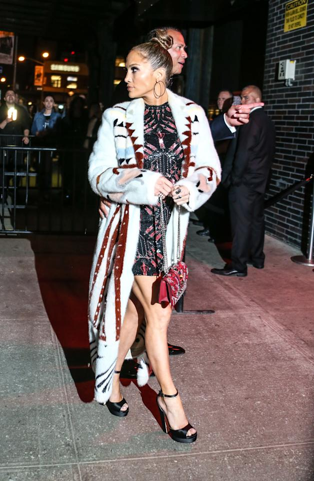 "<p>Jennifer Lopez attends the Rei Kawakubo/Comme des Garcons: Art Of The In-Between"" Costume Institute Gala - After Party at The Standard.</p>"