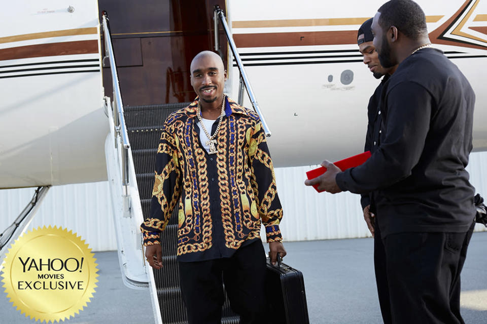 """<p>This long-in-the-works biopic of Tupac Shakur (played by Demetrius Shipp Jr.) suffered a blow when director <a rel=""""nofollow"""" href=""""https://www.yahoo.com/movies/tagged/john-singleton"""" data-ylk=""""slk:John Singleton"""" class=""""link rapid-noclick-resp"""">John Singleton</a> departed, but it will finally hit the screen 21 years after the iconic rapper's death. No doubt new helmer Benny Boom et al. will be hoping to duplicate the success of 2015's hit <a rel=""""nofollow"""" href=""""https://www.yahoo.com/movies/film/straight-outta-compton"""" data-ylk=""""slk:Straight Outta Compton"""" class=""""link rapid-noclick-resp""""><em>Straight Outta Compton</em></a>. 