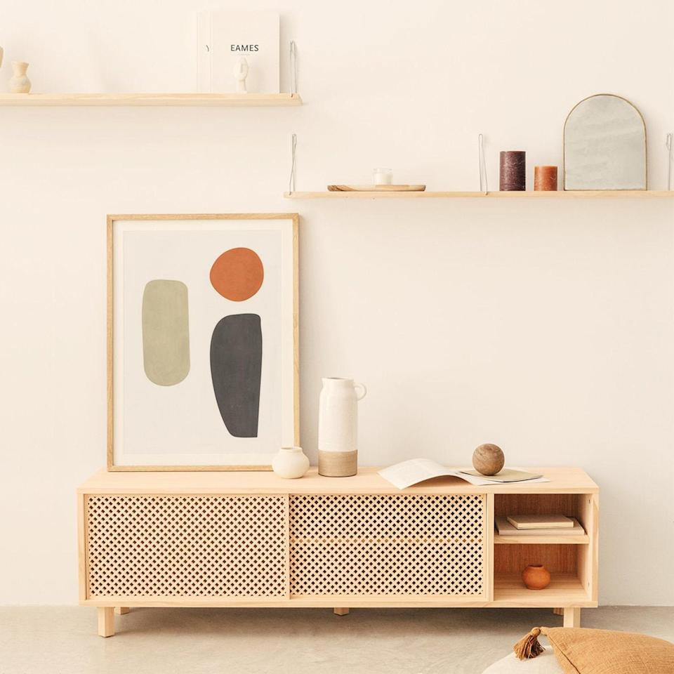 "<h2>Etsy</h2><br>In general, homemade will always beat mass-produced products in terms of sustainability. That's why when in doubt, turn to Etsy. NaanFurniture handcrafts durable and long-lasting wooden TV stands, bedside tables, shelves, and more. But, the star of the show is this shop's unique latticework expertly crafted on each piece of furniture. <br><br>Shop <strong><em><a href=""https://www.etsy.com/shop/NaanFurniture"" rel=""nofollow noopener"" target=""_blank"" data-ylk=""slk:NaanFurniture"" class=""link rapid-noclick-resp"">NaanFurniture</a></em></strong><br><br><strong>NaanFurniture</strong> TV Mora, $, available at <a href=""https://go.skimresources.com/?id=30283X879131&url=https%3A%2F%2Fwww.etsy.com%2Flisting%2F692603324%2Ffurniture-tv-mora"" rel=""nofollow noopener"" target=""_blank"" data-ylk=""slk:Etsy"" class=""link rapid-noclick-resp"">Etsy</a>"