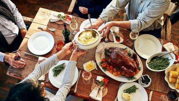 PHOTO: This stock photo depicts a family enjoying a Thanksgiving meal. (STOCK/Getty Images)