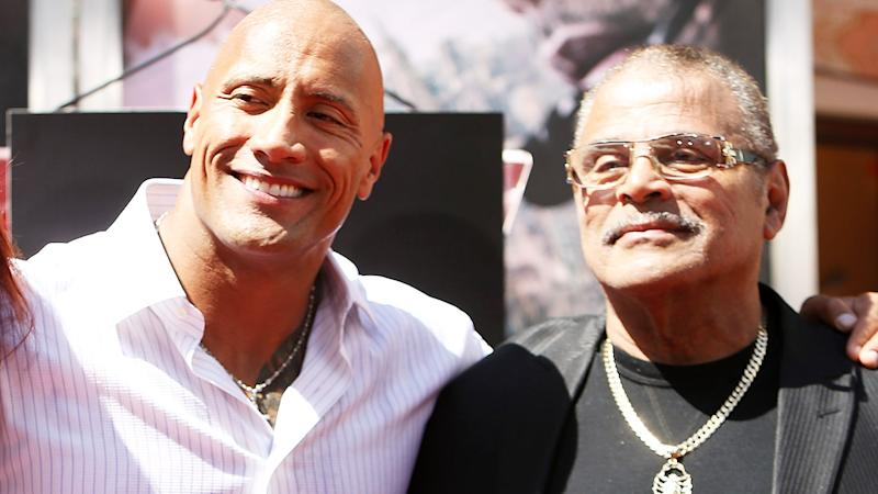 Dwayne 'The Rock' Johnson, pictured here with father Rocky in 2015.