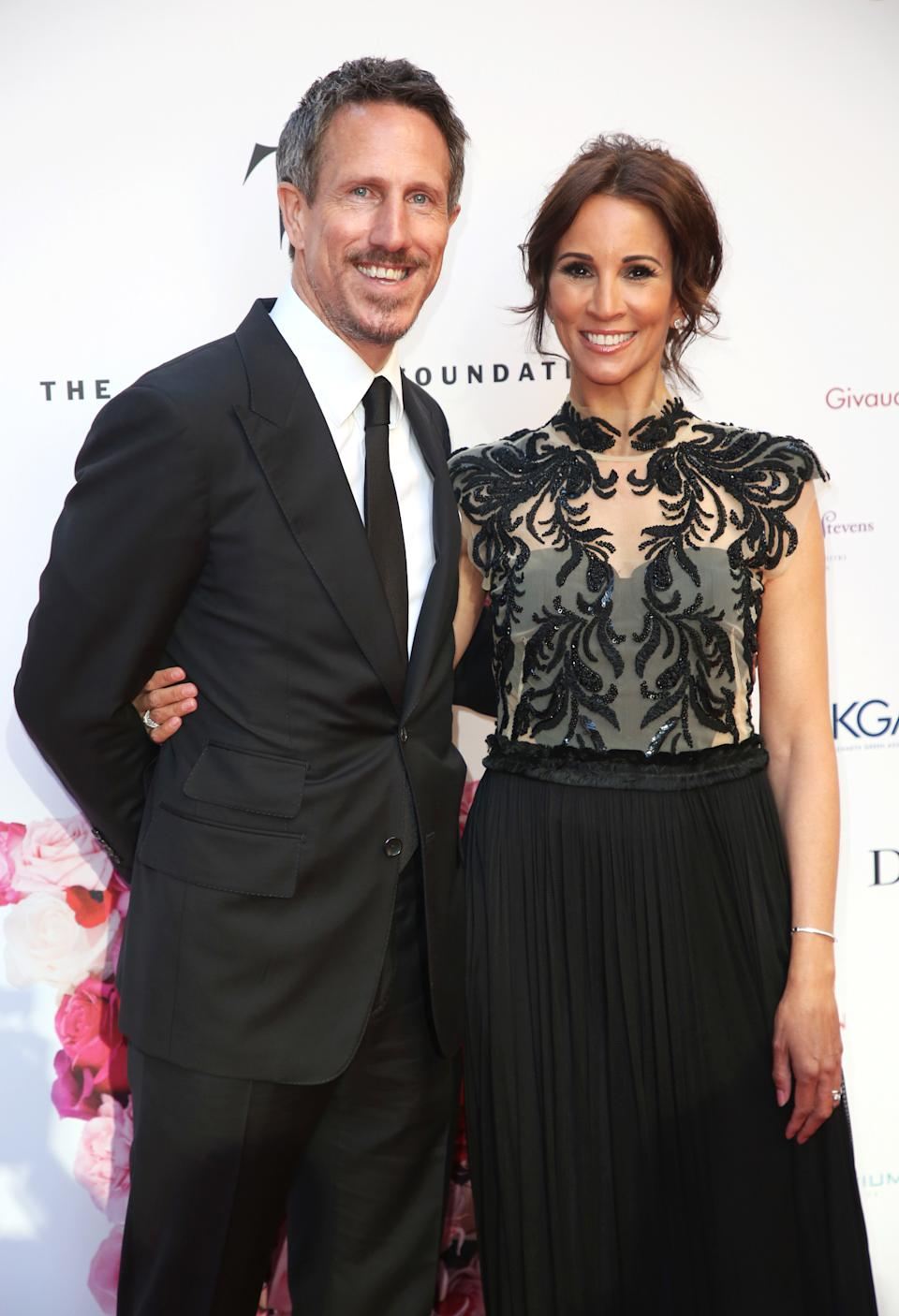 LONDON, UNITED KINGDOM - 2019/05/16: Andrea McLean and Nick Feeney attend the Fragrance Foundation Awards 2019 at The Brewery in London. (Photo by Brett Cove/SOPA Images/LightRocket via Getty Images)