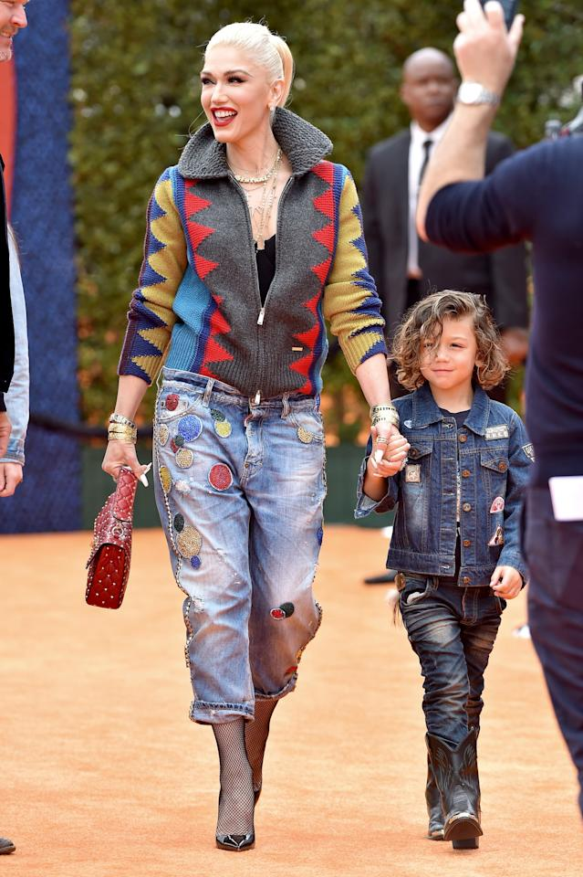 """<p><a class=""""sugar-inline-link ga-track"""" title=""""Latest photos and news for Gwen Stefani"""" href=""""https://www.popsugar.com/Gwen-Stefani"""" target=""""_blank"""" data-ga-category=""""Related"""" data-ga-label=""""https://www.popsugar.com/Gwen-Stefani"""" data-ga-action=""""&lt;-related-&gt; Links"""">Gwen Stefani</a> was 44 years old when she welcomed her youngest son, Apollo Bowie Flynn, to her growing brood of boys with ex-husband <a class=""""sugar-inline-link ga-track"""" title=""""Latest photos and news for Gavin Rossdale"""" href=""""https://www.popsugar.com/Gavin-Rossdale"""" target=""""_blank"""" data-ga-category=""""Related"""" data-ga-label=""""https://www.popsugar.com/Gavin-Rossdale"""" data-ga-action=""""&lt;-related-&gt; Links"""">Gavin Rossdale</a>. She was already mom to Kingston and Zuma, who were both born when she was in her 30s.</p> <div class=""""related-stories clearfix"""">     <div class=""""related-header"""">Related:</div>              <a href=""""https://www.popsugar.com/family/gwen-stefani-kids-46707722""""            class=""""related-link related-link-with-image """"                                         >             <div class=""""related-poster"""">                                     <img  alt=""""How Many Kids Does Gwen Stefani Have?"""" class=""""image smallsquare"""" width=""""75"""" height=""""75"""" src=""""https://media1.popsugar-assets.com/files/thumbor/GlJ2ozpH0ekockJXz3-NZc9_czU/0x0:3645x3645/fit-in/75x75/filters:format_auto-!!-:strip_icc-!!-:sharpen-!1,0,true!-/2019/10/02/746/n/24155406/e402761b5d94d64ecba700.73384520_/i/gwen-stefani-kids.jpg"""" title=""""How Many Kids Does Gwen Stefani Have?"""" />                             </div>              Gwen Stefani Has to Be One of the Coolest Moms Ever, Right? See the Best Photos of Her 3 Boys         </a>     </div>"""