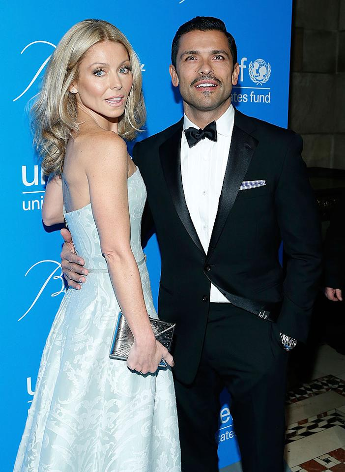 "Mark Consuelos, who must be growing a 'stache for Movember, attended the fundraiser with his wife Kelly Ripa. The actor recently transformed his appearance for his role at Spivey in ""American Horror Story,"" and talked about it in a <a target=""_blank"" href=""http://tv.yahoo.com/news/yahoo--tv-q-a--mark-consuelos-disappears-into--american-horror-story--173916766.html"">new interview</a> with Yahoo! TV. ""I don't think I fully understood the vision,"" he said about his scary-looking character. ""I was so blown away."" (11/27/12)"
