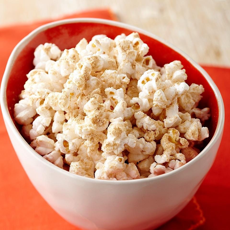 <p>This Chocolate Peanut Butter Popcorn is quick, satisfying, and kid friendly. Kids can help prepare by measuring the powdered peanut butter and adding it to popcorn.</p>