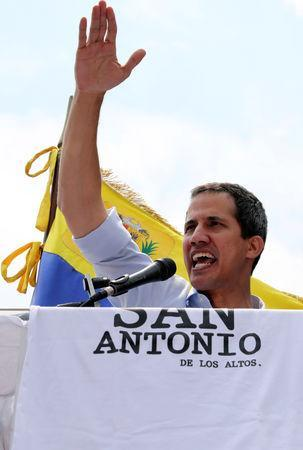 Venezuelan opposition leader Juan Guaido, who many nations have recognised as the country's rightful interim ruler, attends a rally in San Antonio, Venezuela, March 30, 2019. REUTERS/Manaure Quintero