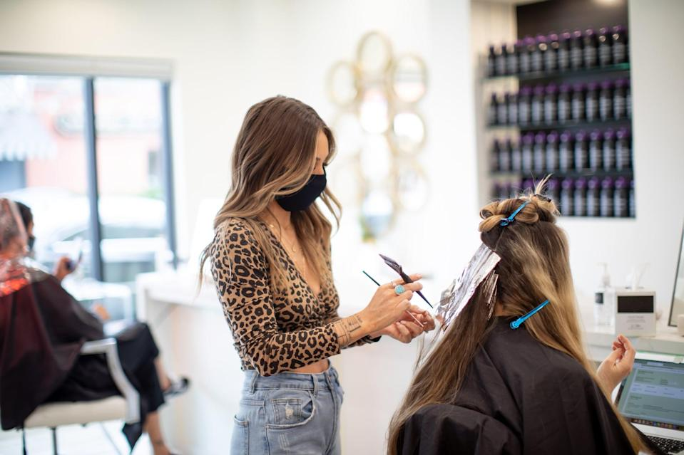"<p>Hair salons can be tricky. In just one visit you can be seen by four people if you're getting your hair washed, cut, colored, and styled. In those cases, ""you should tip 20 percent on the price of each service individually,"" said Jessica Barsamian, CEO of the <a href=""https://thebelgradegroup.com/"" class=""link rapid-noclick-resp"" rel=""nofollow noopener"" target=""_blank"" data-ylk=""slk:Beldgrade Group"">Beldgrade Group</a>. Assistants and hair washers should also be tipped, but $5 to $10 is enough to show your gratitude for their work.</p> <p>There is an exception to the 20 percent rule: ""Depending on how many processes you receive during a color treatment they can all add up and it can become very expensive,"" said Carolyn Aronson, CEO and Founder of <a href=""https://itsa10haircare.com/"" class=""link rapid-noclick-resp"" rel=""nofollow noopener"" target=""_blank"" data-ylk=""slk:It's a 10 Haircare"">It's a 10 Haircare</a>. In those instances when the bill is around $400 or more, she said it's OK to tip slightly less, like 15 percent.</p>"