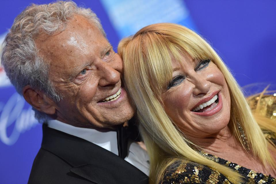 Suzanne Somers, 73, and her 84-year-old husband Alan Hamel, photographed at the 29th Annual Palm Springs International Film Festival Awards Gala in January 2018 [Photo: Getty]