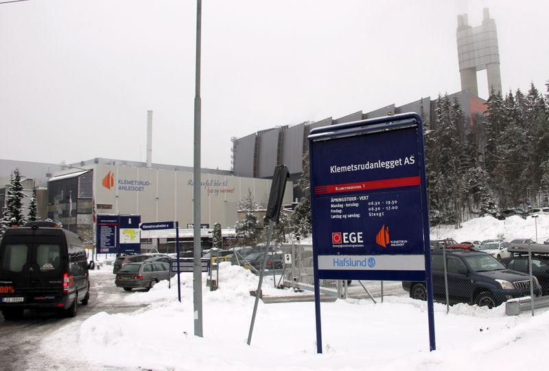 FILE PHOTO: A general view of the Klemetsrud incinerator in Oslo